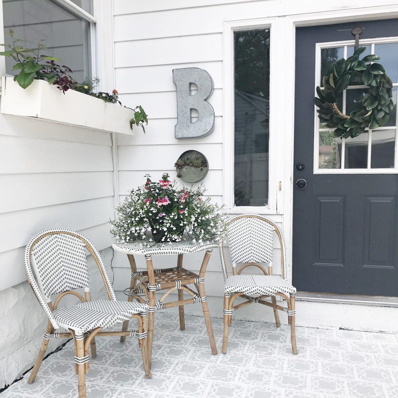 DIY Stenciled Porch
