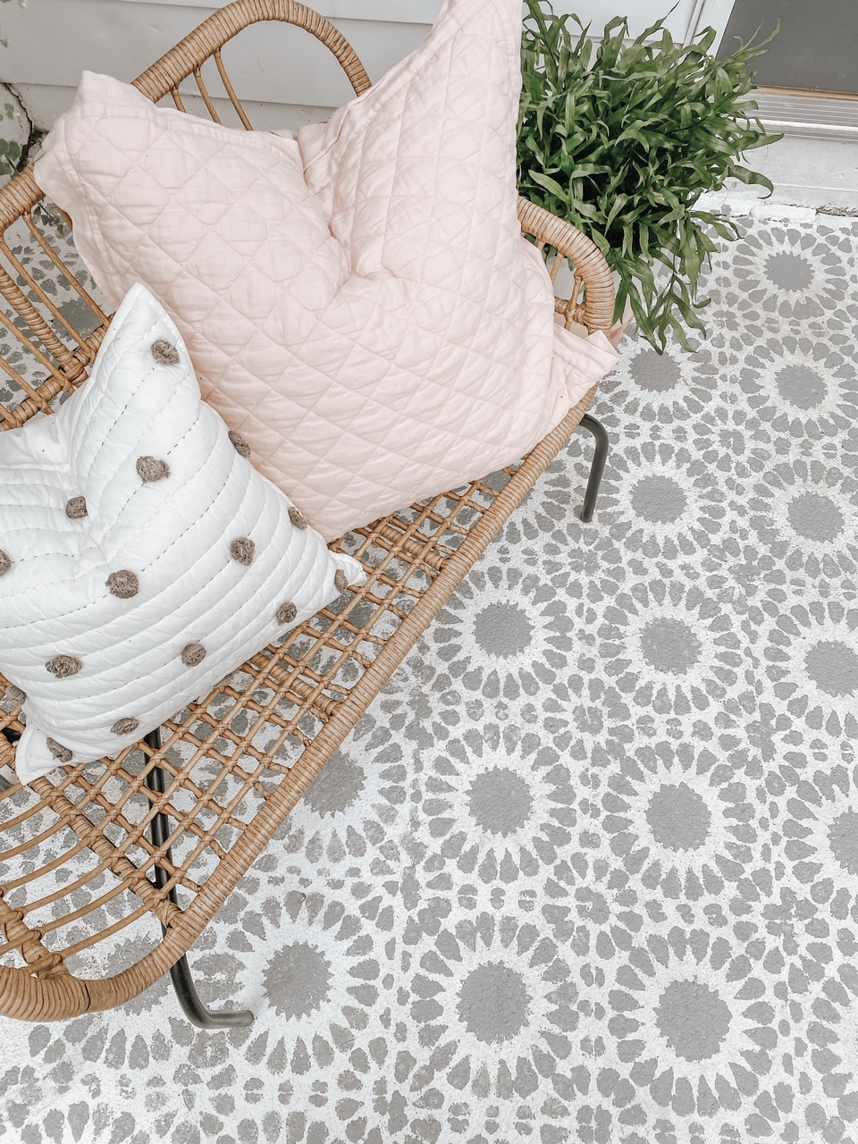 DIY Stenciled Porch