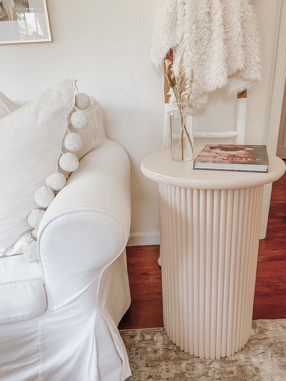 DIY Fluted Side Table