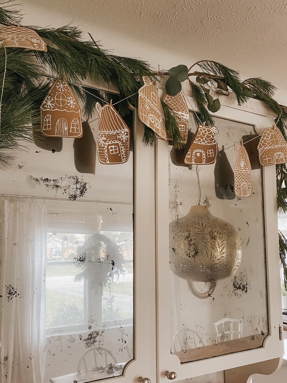 Paper Gingerbread Garland