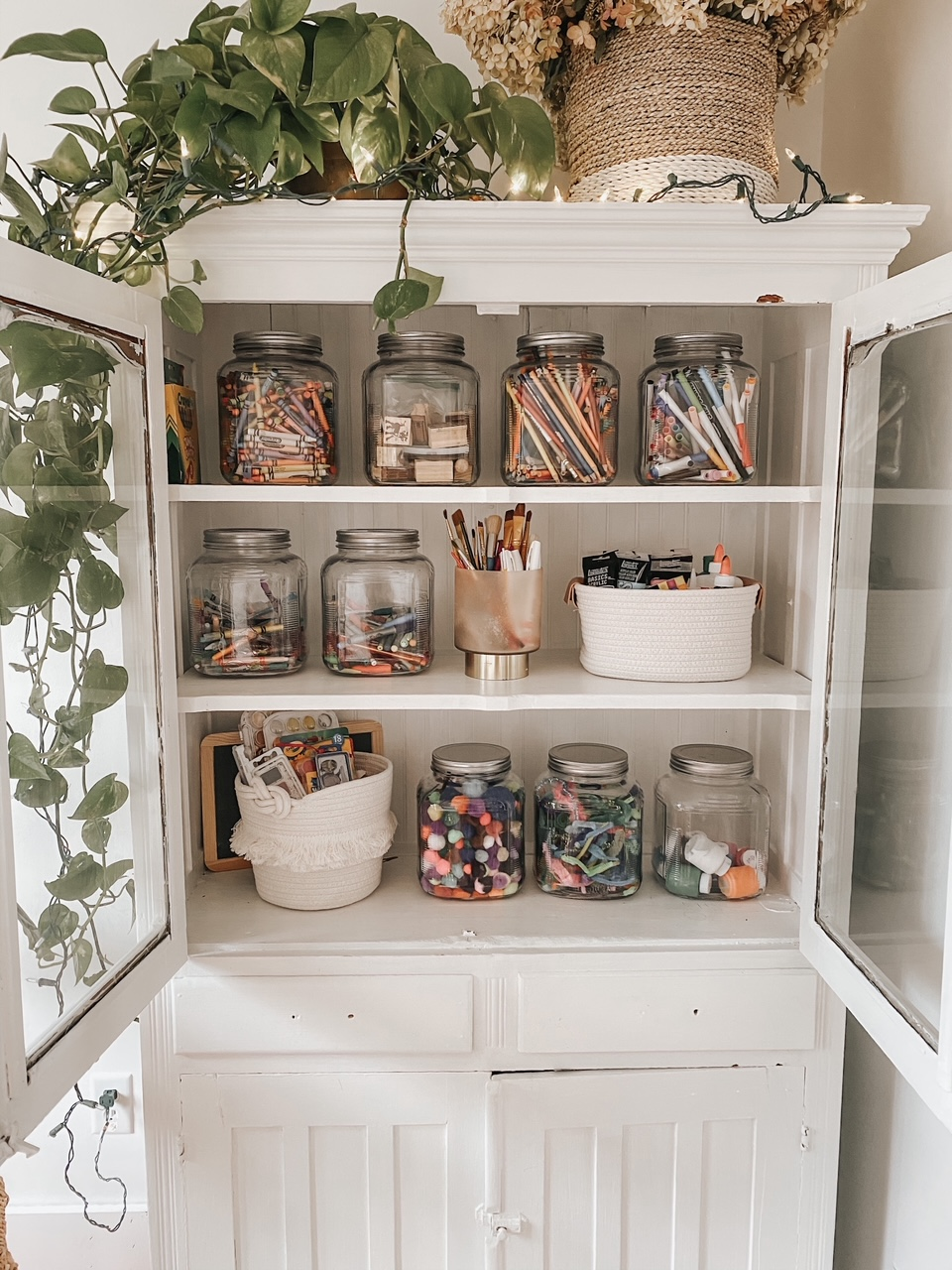 Organized Art Cupboard